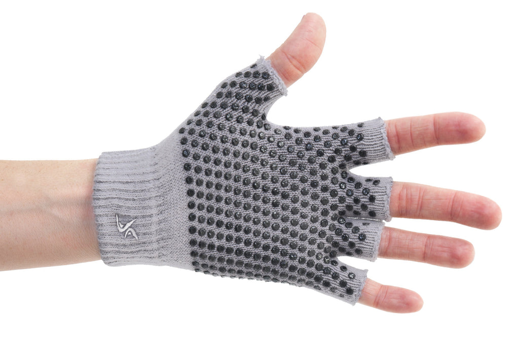 Grippy Yoga Gloves Grey