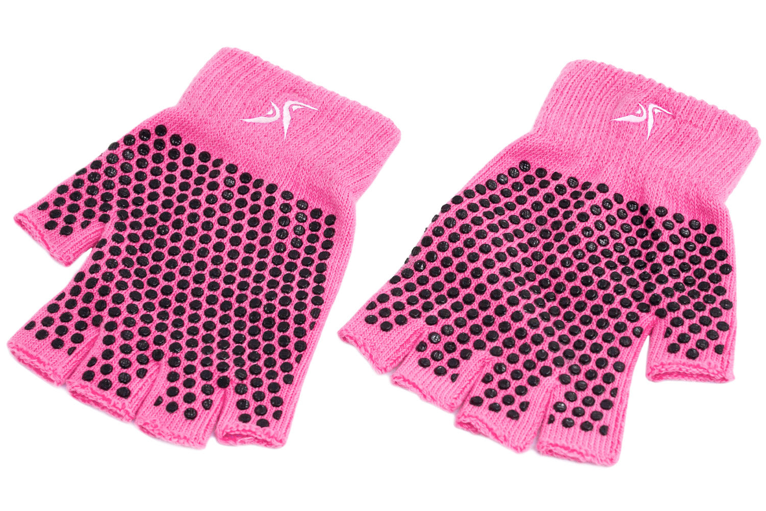 Pink Grippy Yoga Gloves
