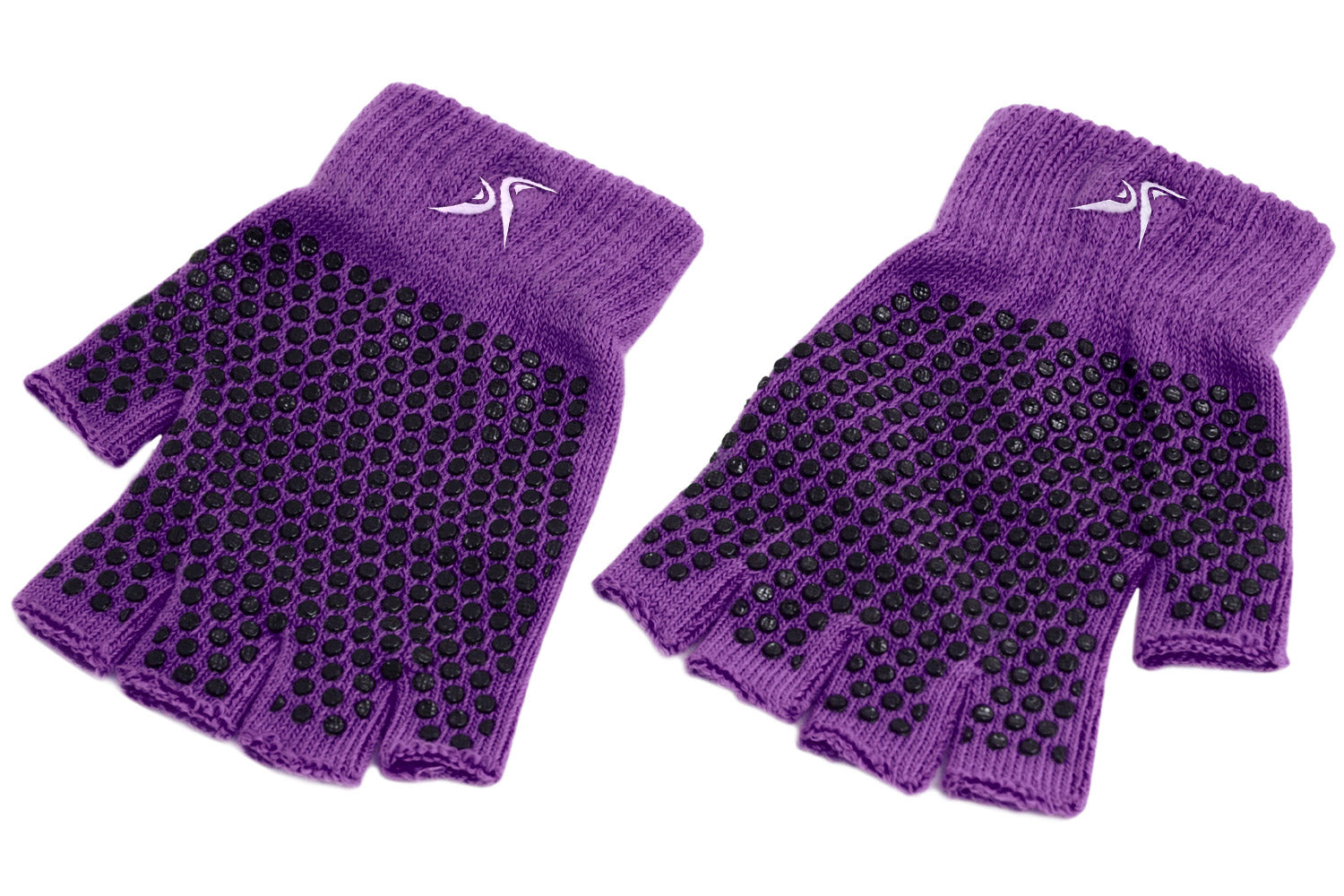 Purple Grippy Yoga Gloves