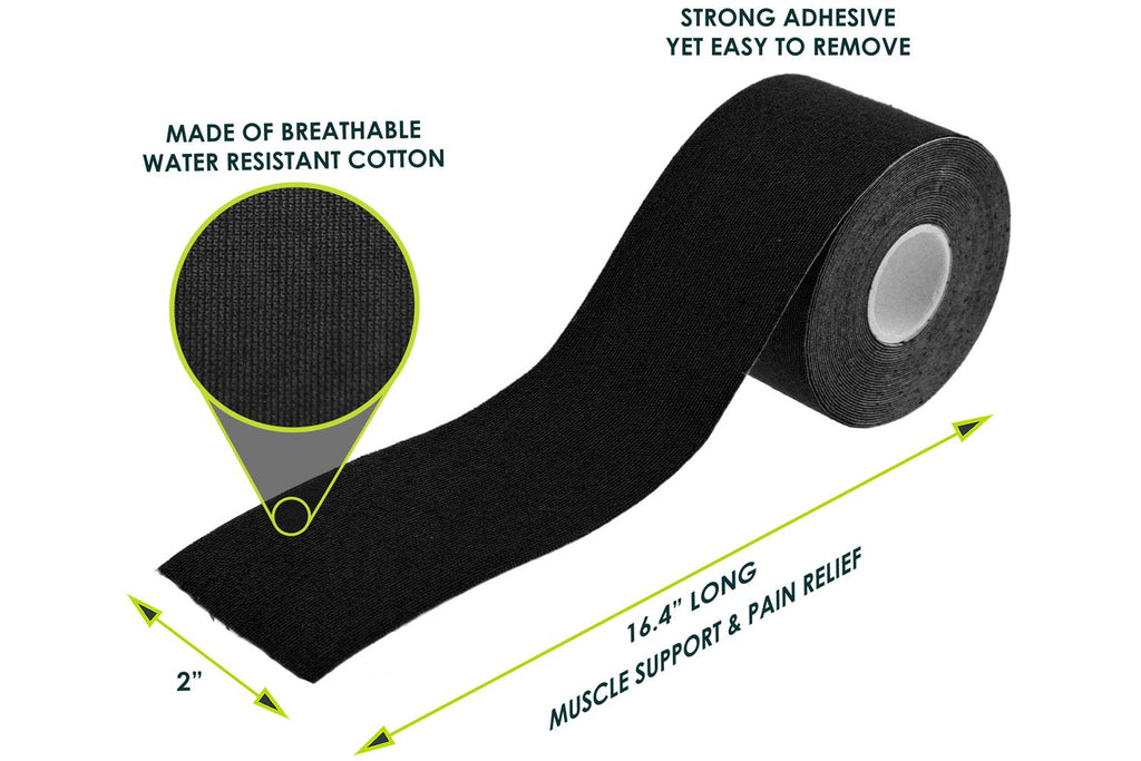 Sports Kinesiology Tape Black