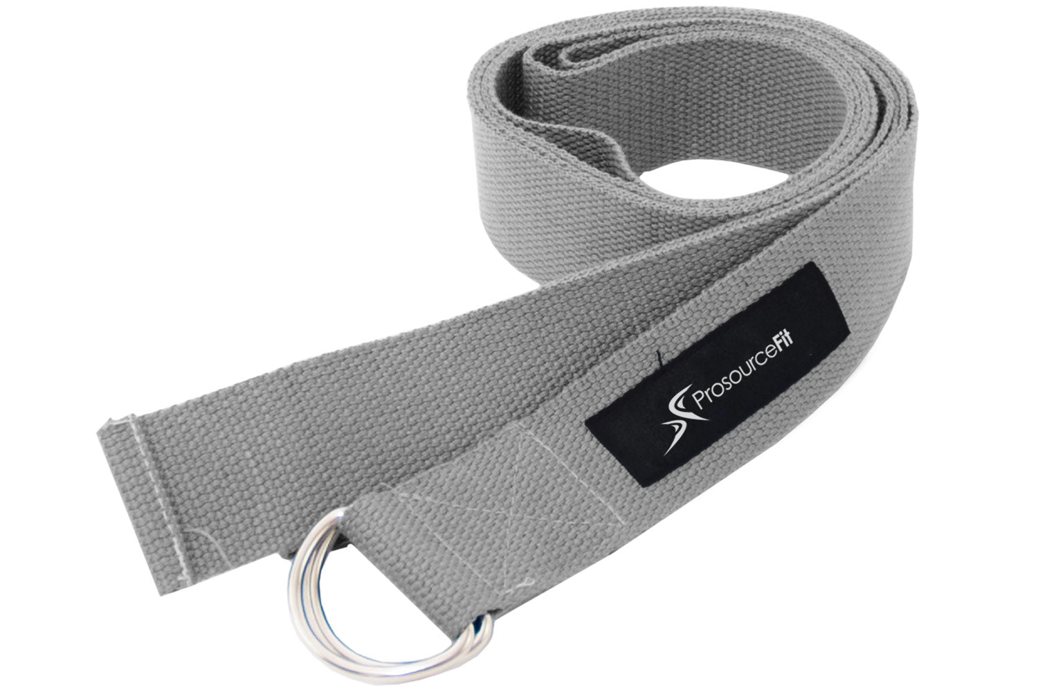 Grey Metal D-Ring Yoga Strap