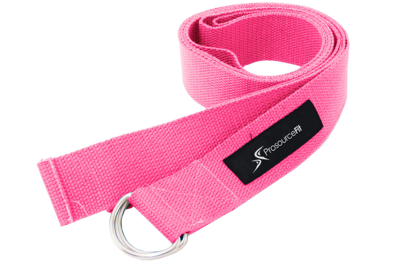 Pink Metal D-Ring Yoga Strap