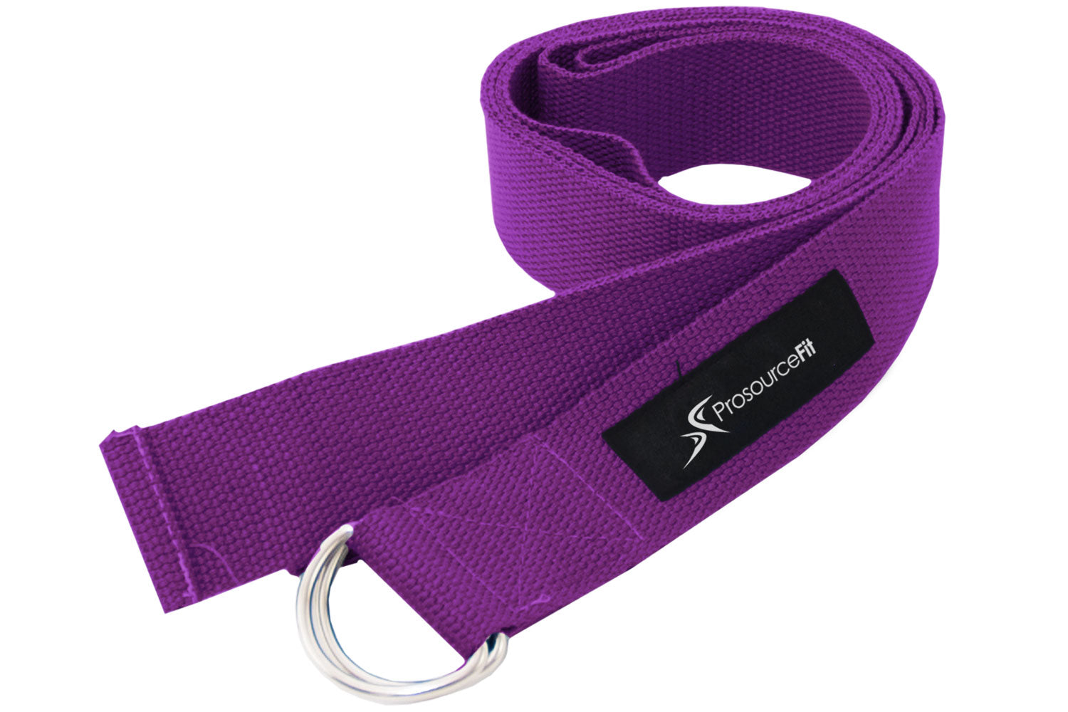 Purple Metal D-Ring Yoga Strap