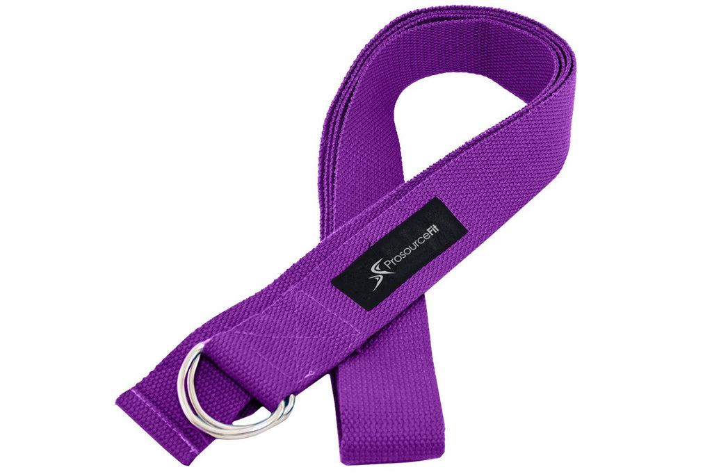 Metal D-Ring Yoga Strap Purple