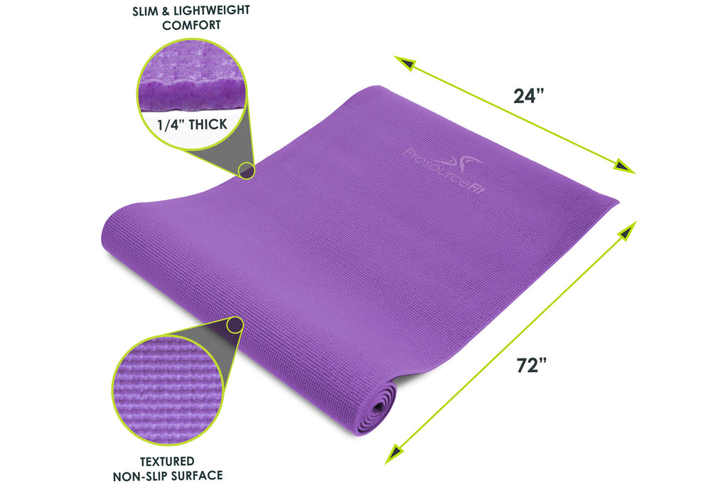 "Original Yoga Mat 1/4"" Purple"