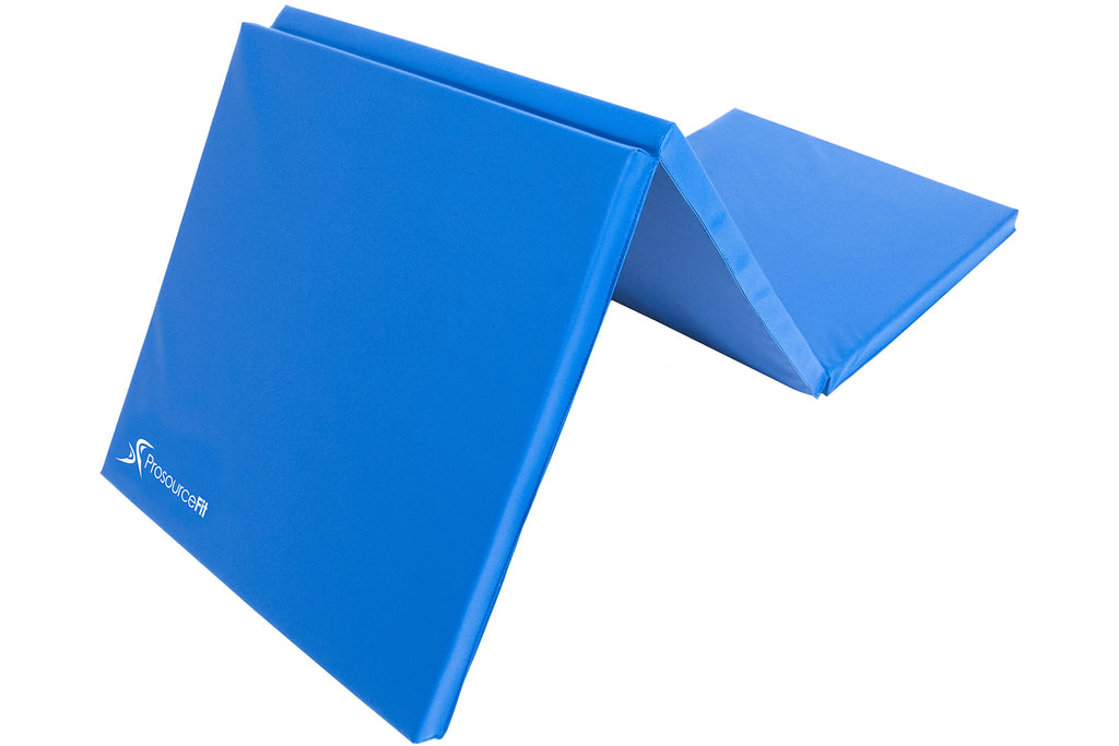 Tri-Fold Folding Exercise Mat 6x2x1.5 Blue