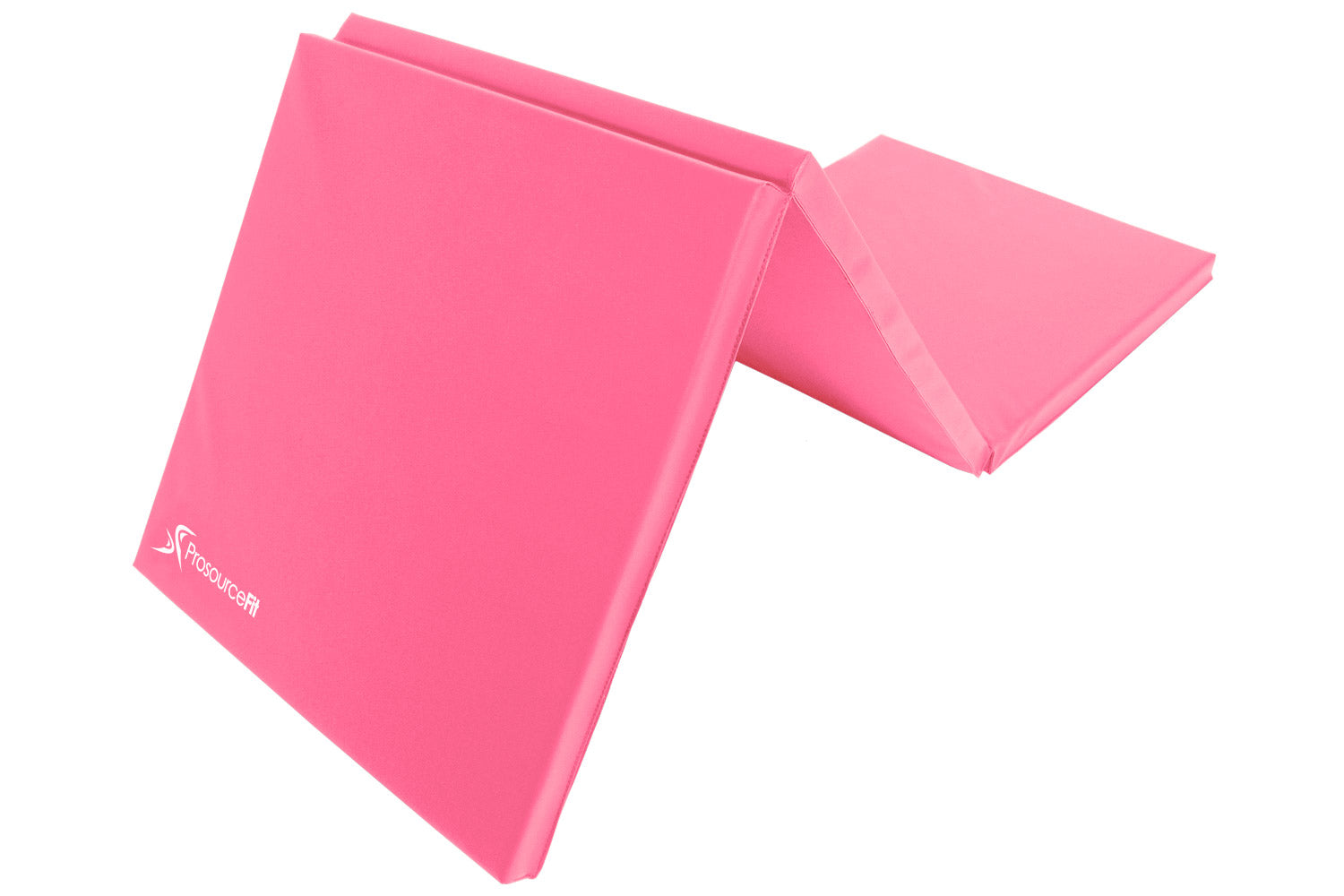 Pink Tri-Fold Folding Exercise Mat 6x2x1.5