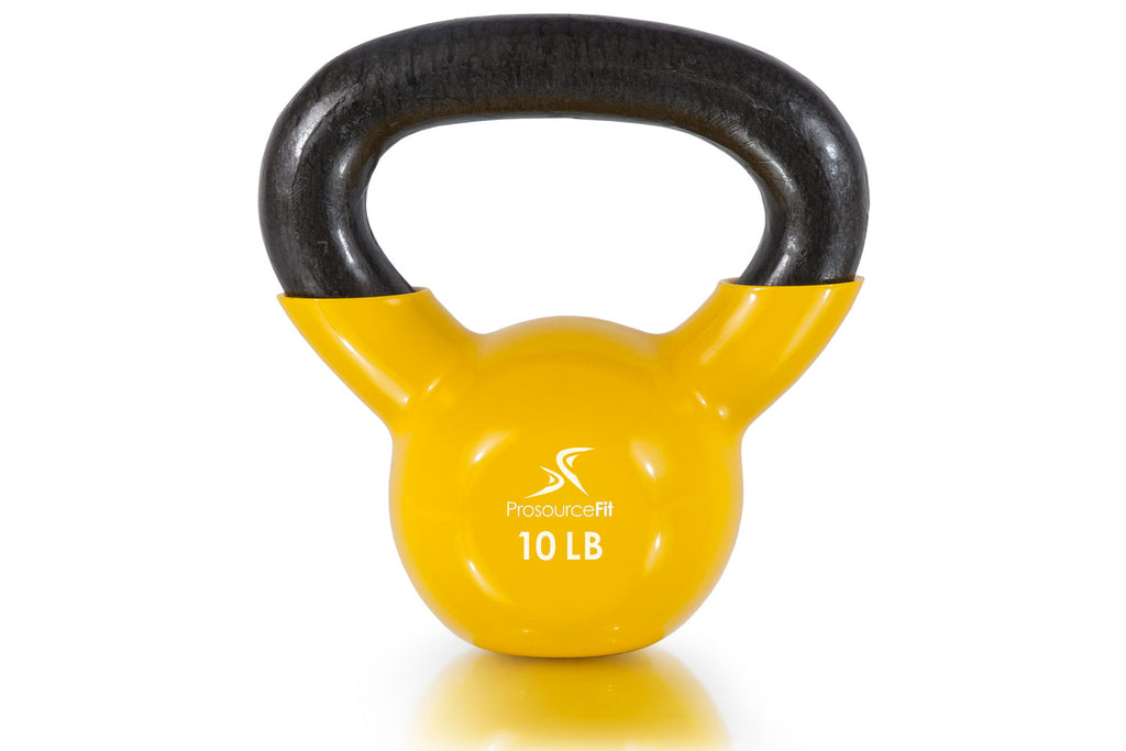 Vinyl Coated Cast Iron Kettlebells 10 lb
