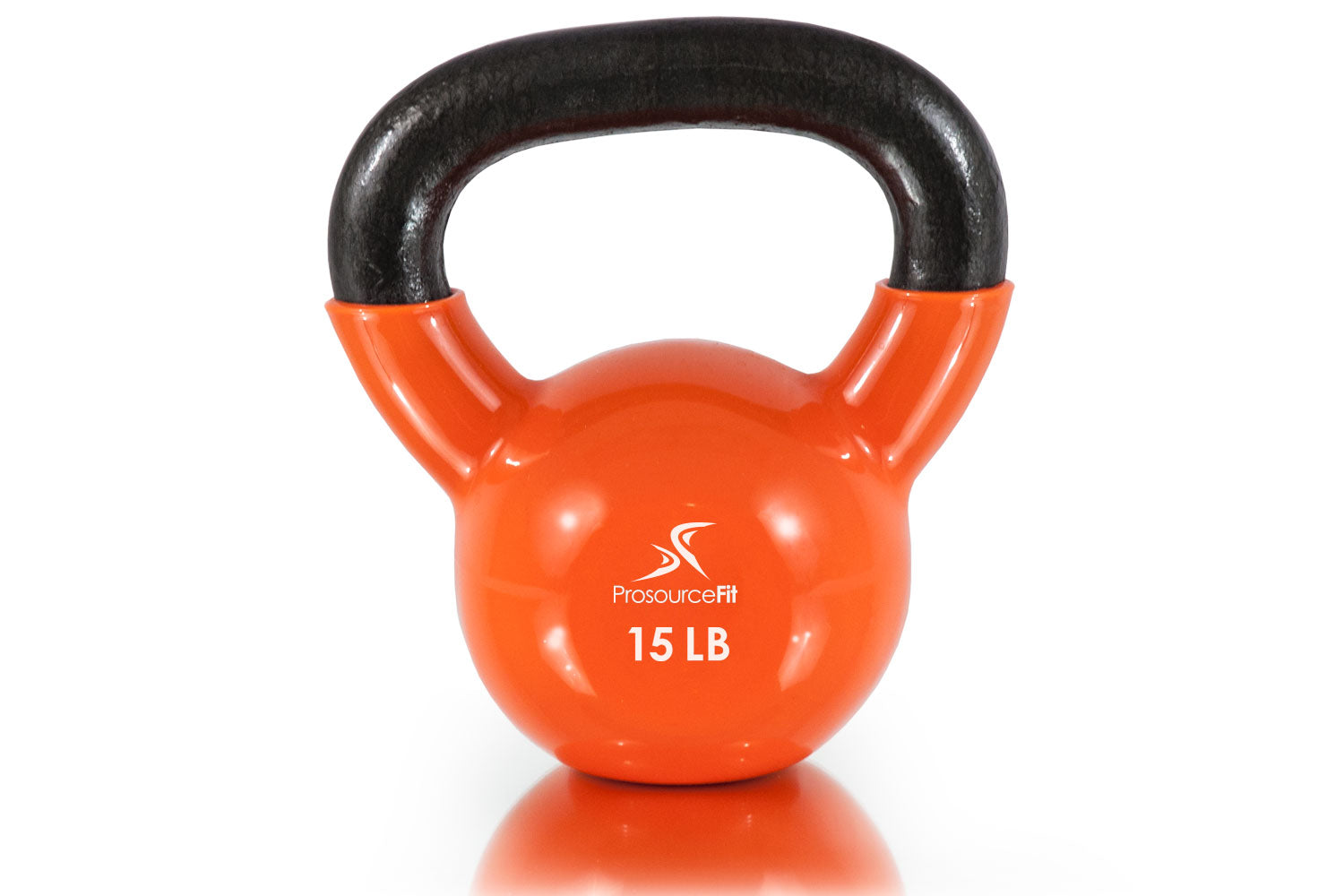 15 lb Vinyl Coated Cast Iron Kettlebells