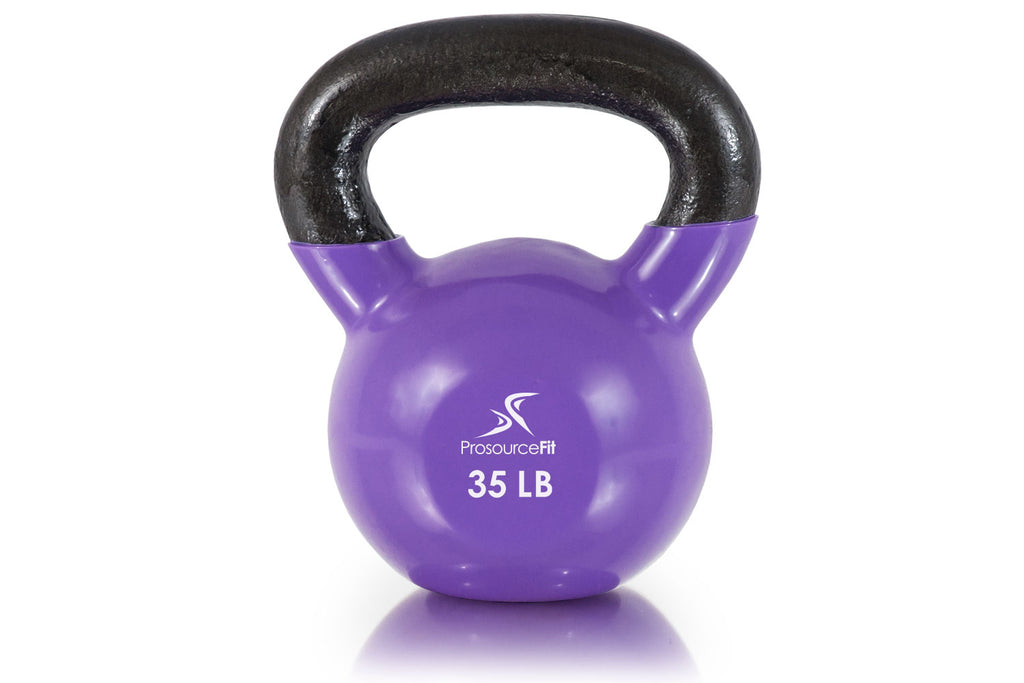 Vinyl Coated Cast Iron Kettlebells 35 lb
