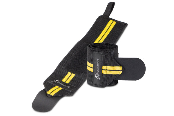 Weight Lifting Wrist Wrap with Loop Yellow