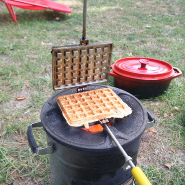 waffles cooking on the eco zoom