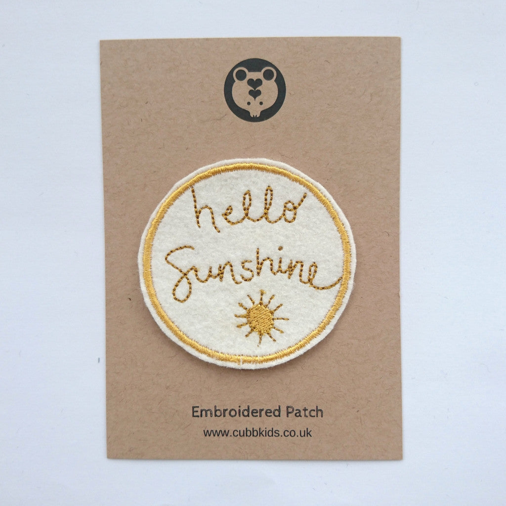 Hello Sunshine Embroidered Patch