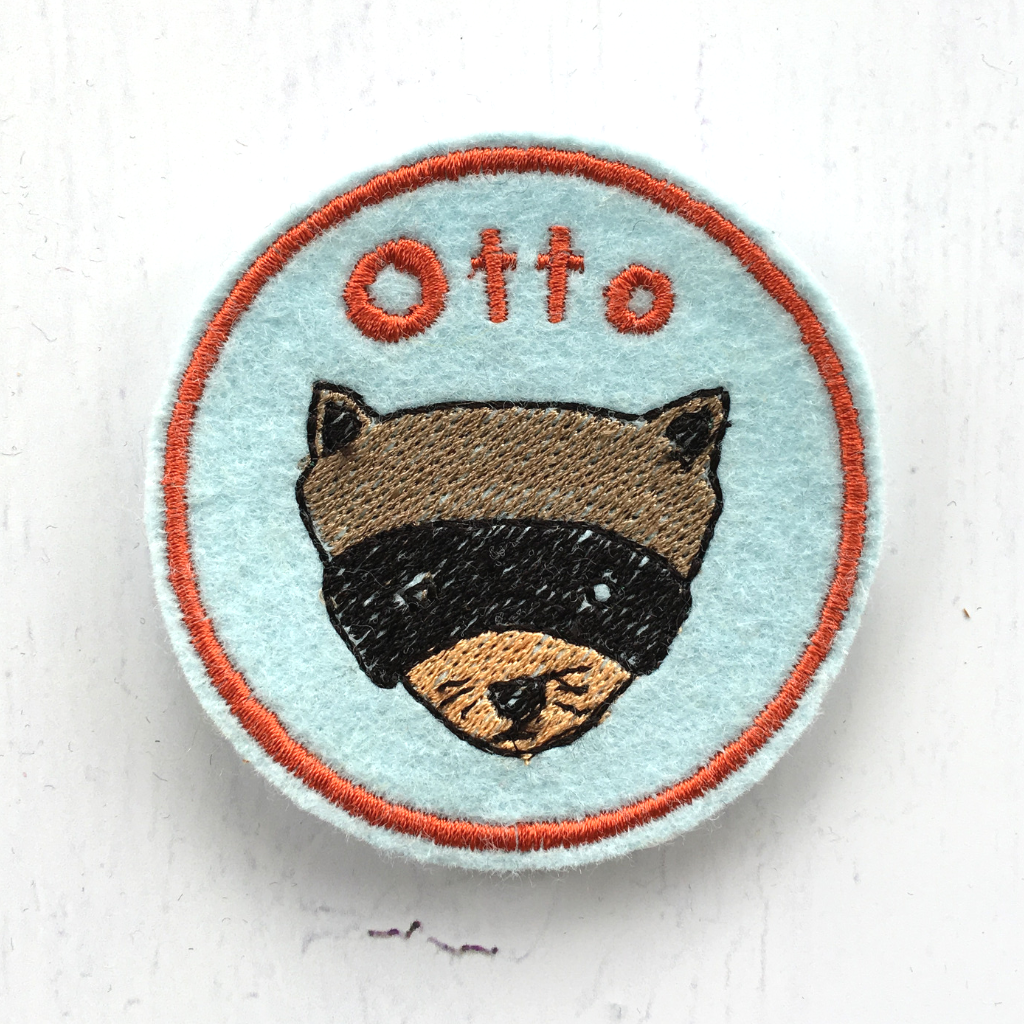 Personalised Embroidered Patch - Raccoon