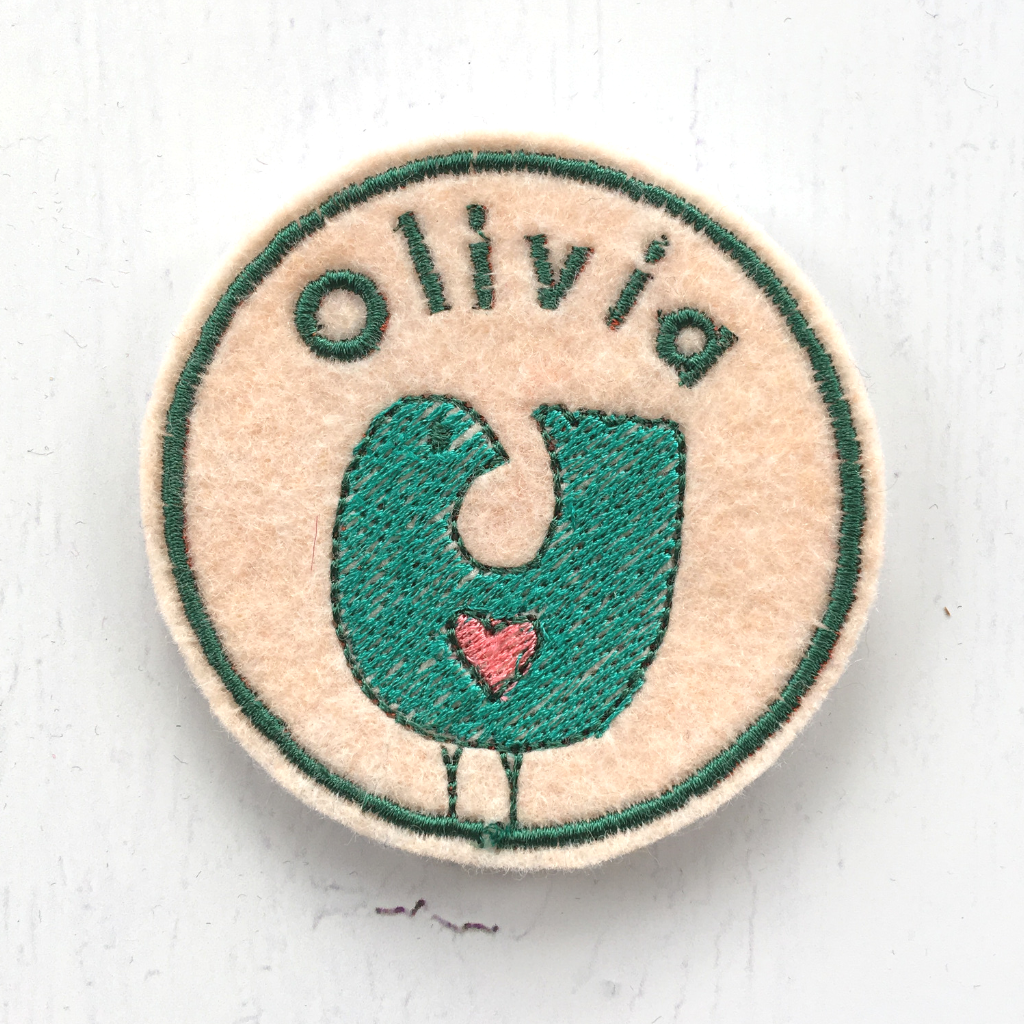 Personalised Embroidered Patch - Bird