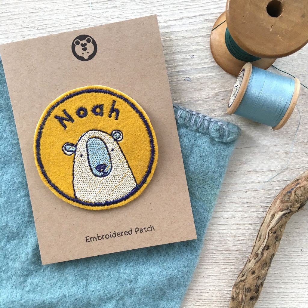 Personalised Embroidered Patch - Bear