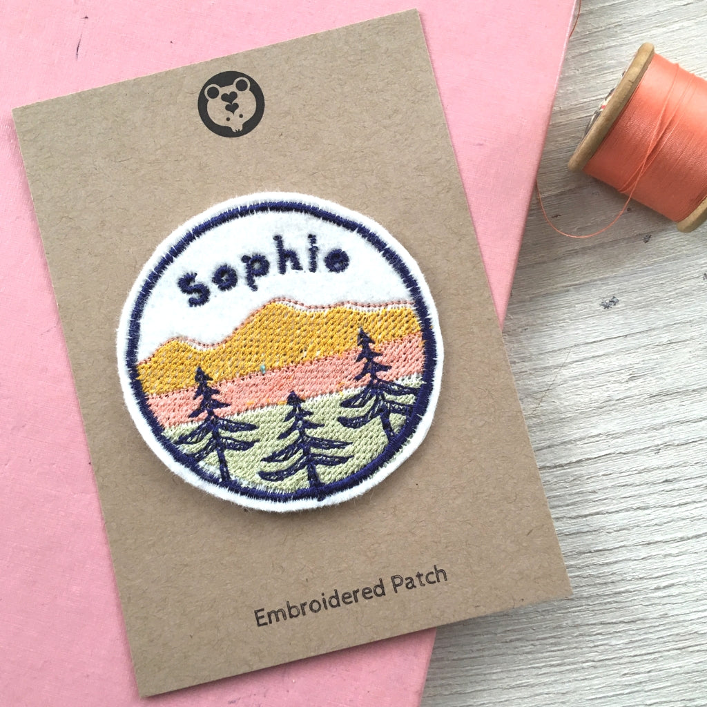 Personalised Mountain patch