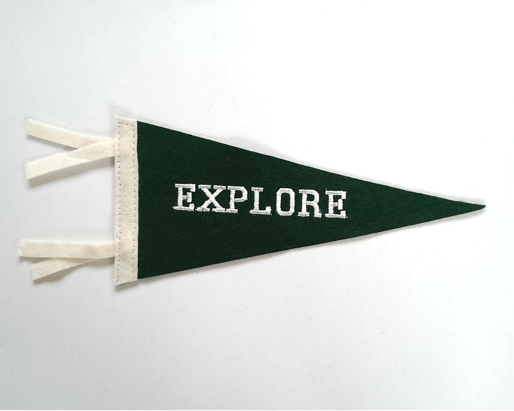 Explore Mini Felt Pennant Flag
