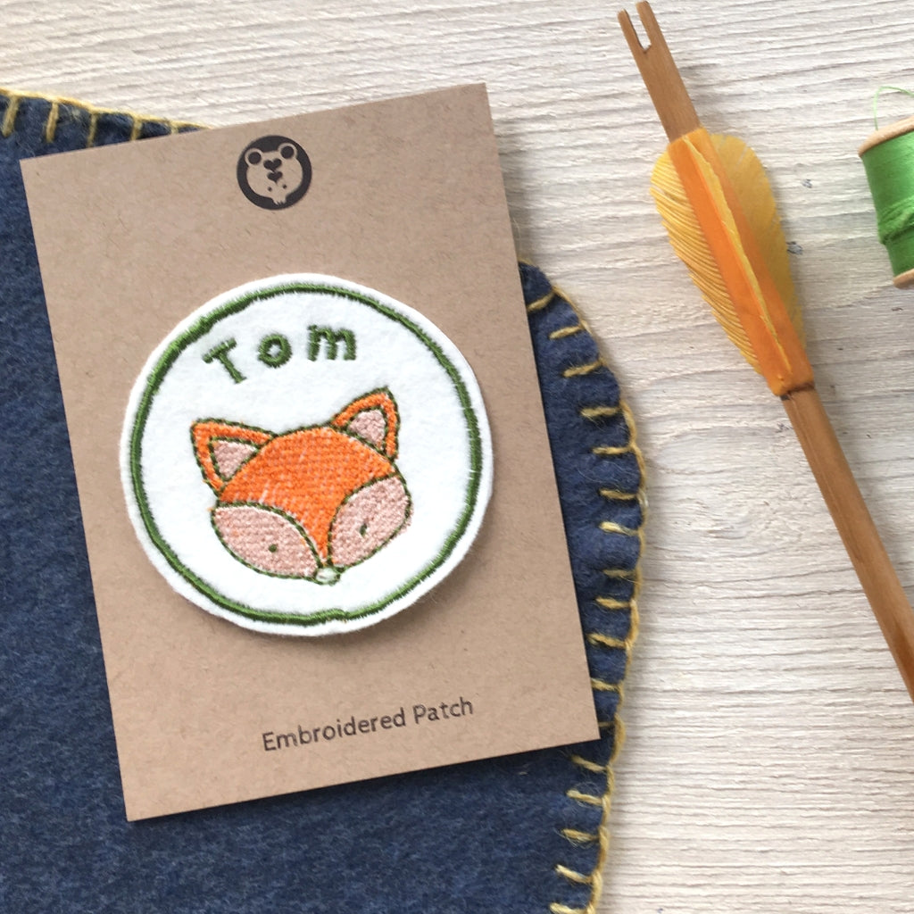 Personalised Embroidered Patch - Fox