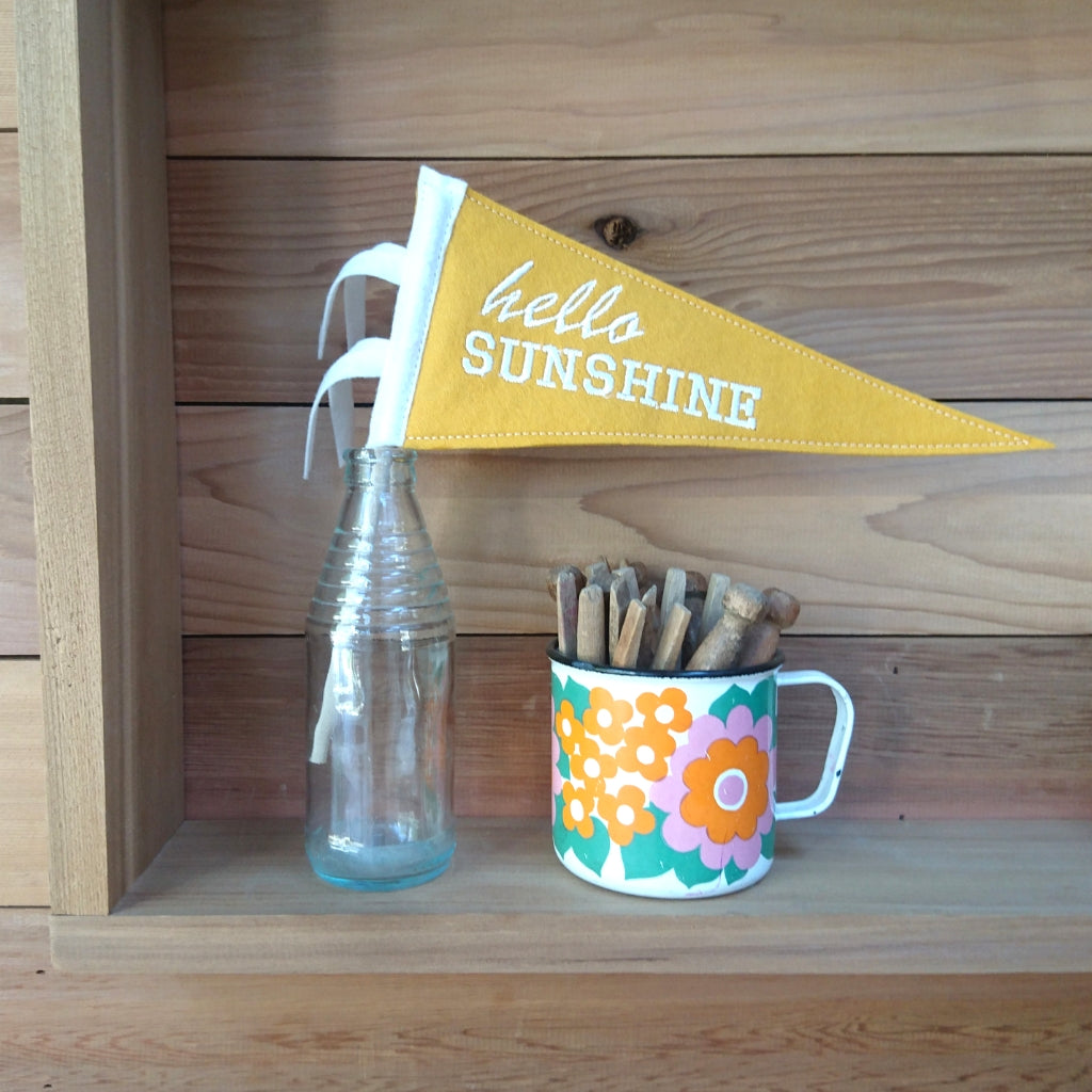 'Hello Sunshine' Mini Pennant Flag