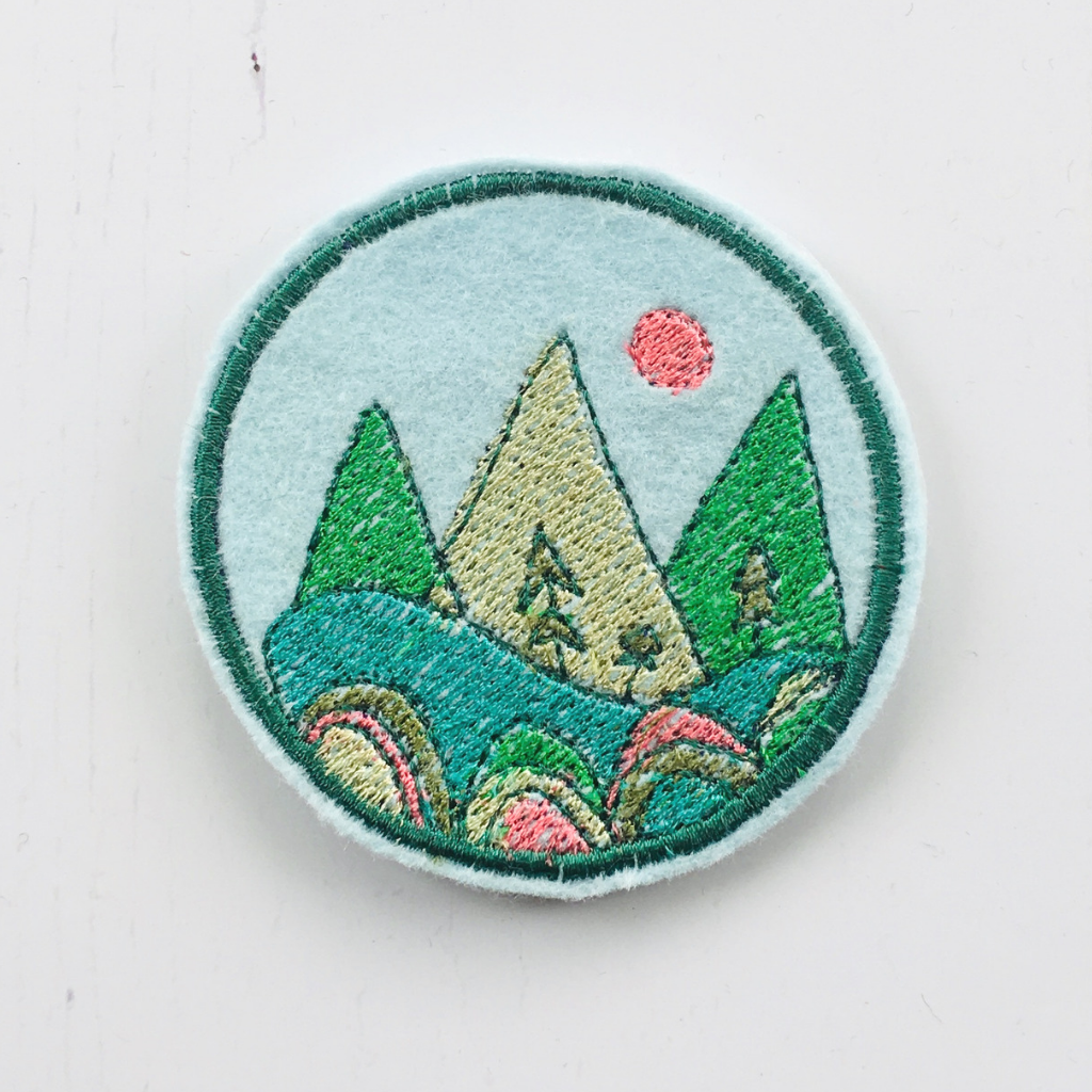 Embroidered Mountain Patch