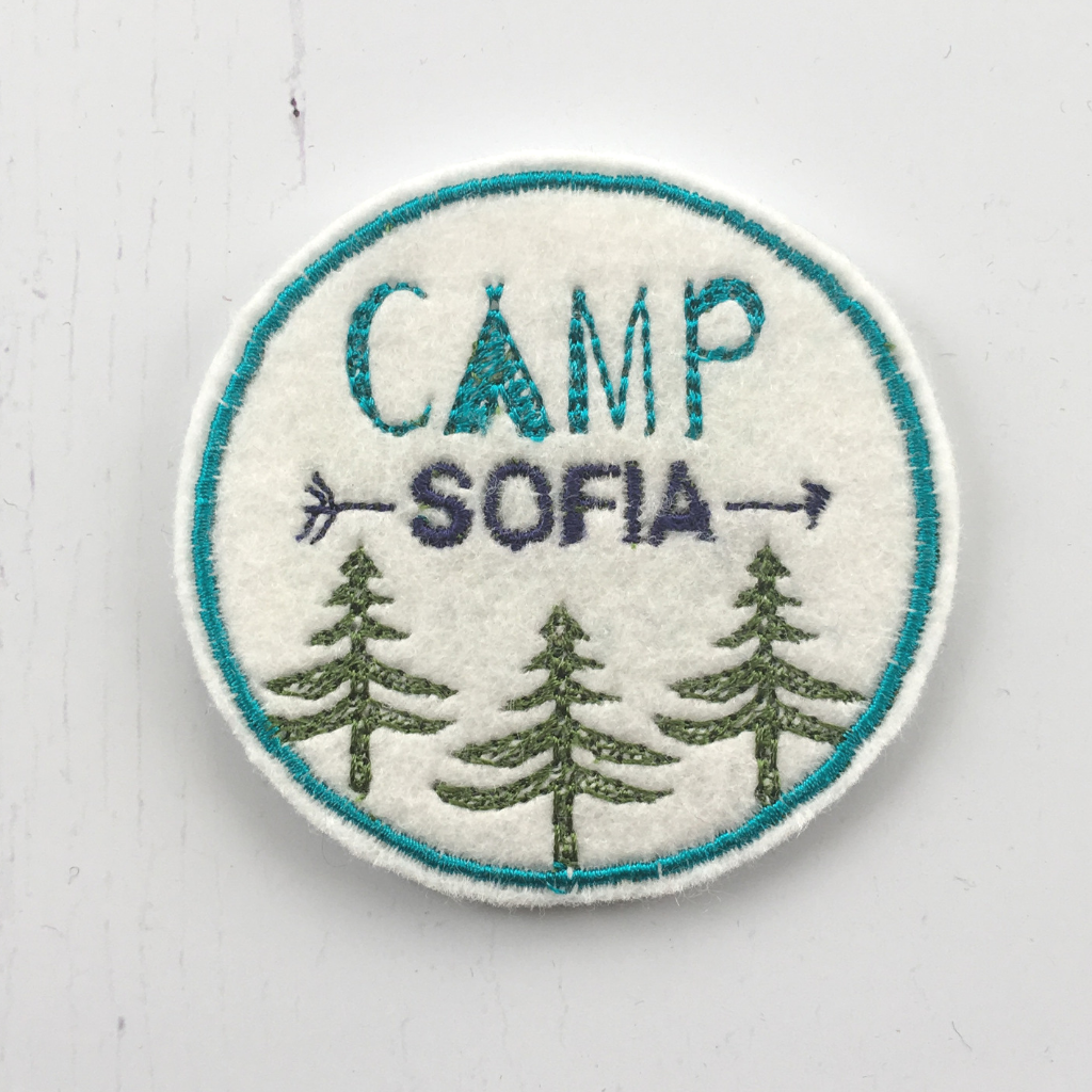 Personalised Camping Party Patch