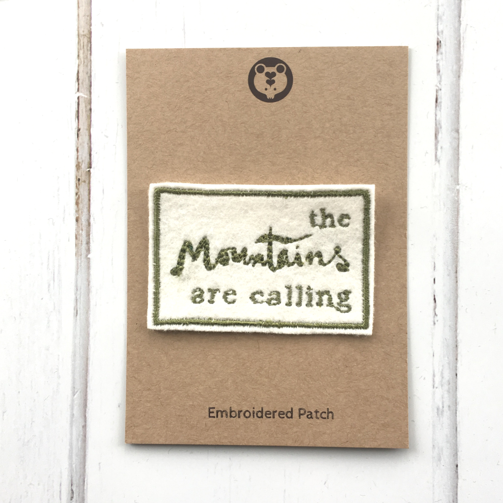 The Mountains are Calling Embroidered Patch
