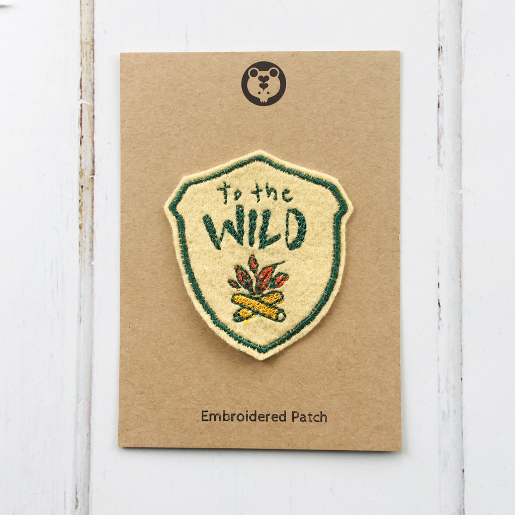 In To The Wild Embroidered Patch