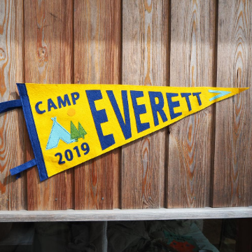 Personalised camping Party Pennant