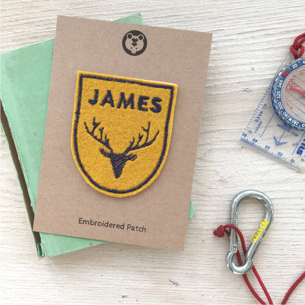 Personalised Embroideerd Patch - Stag