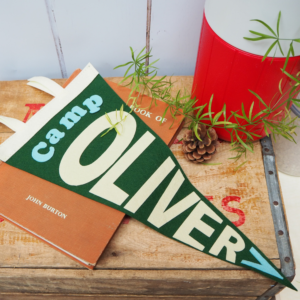 Personalised Camping pennant