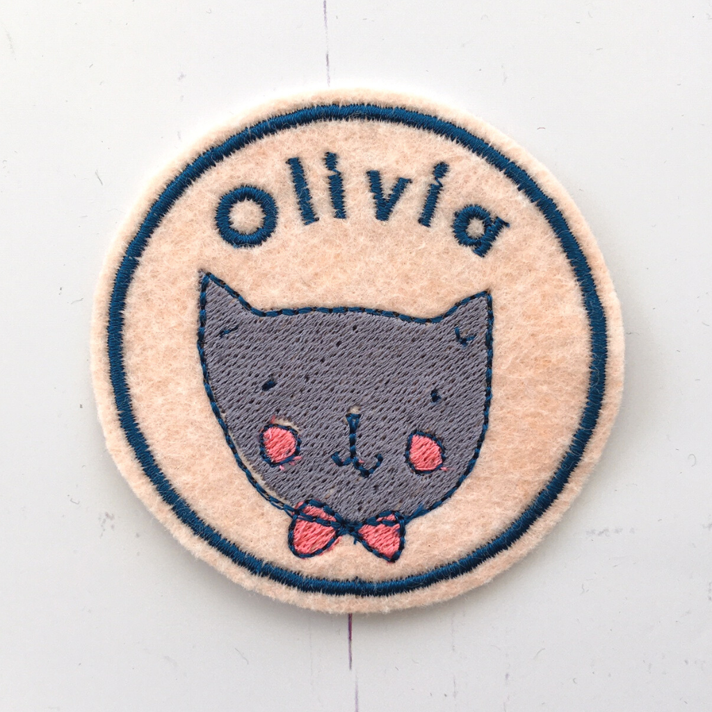 Personalised cat Name patch