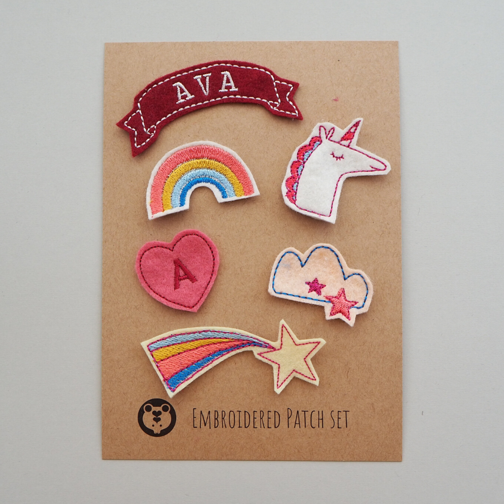Rainbows Personalised Patch Set