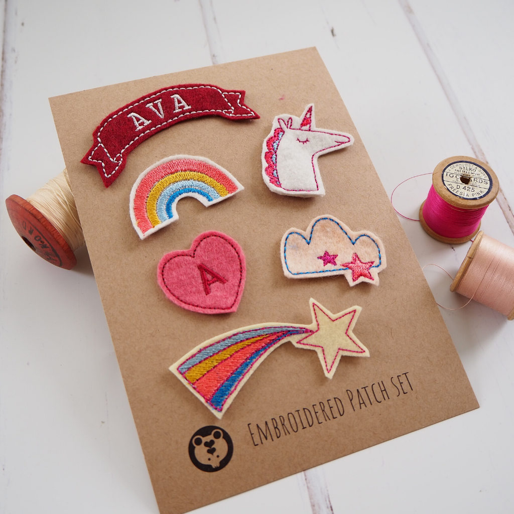 Personalised Rainbows Patch Set