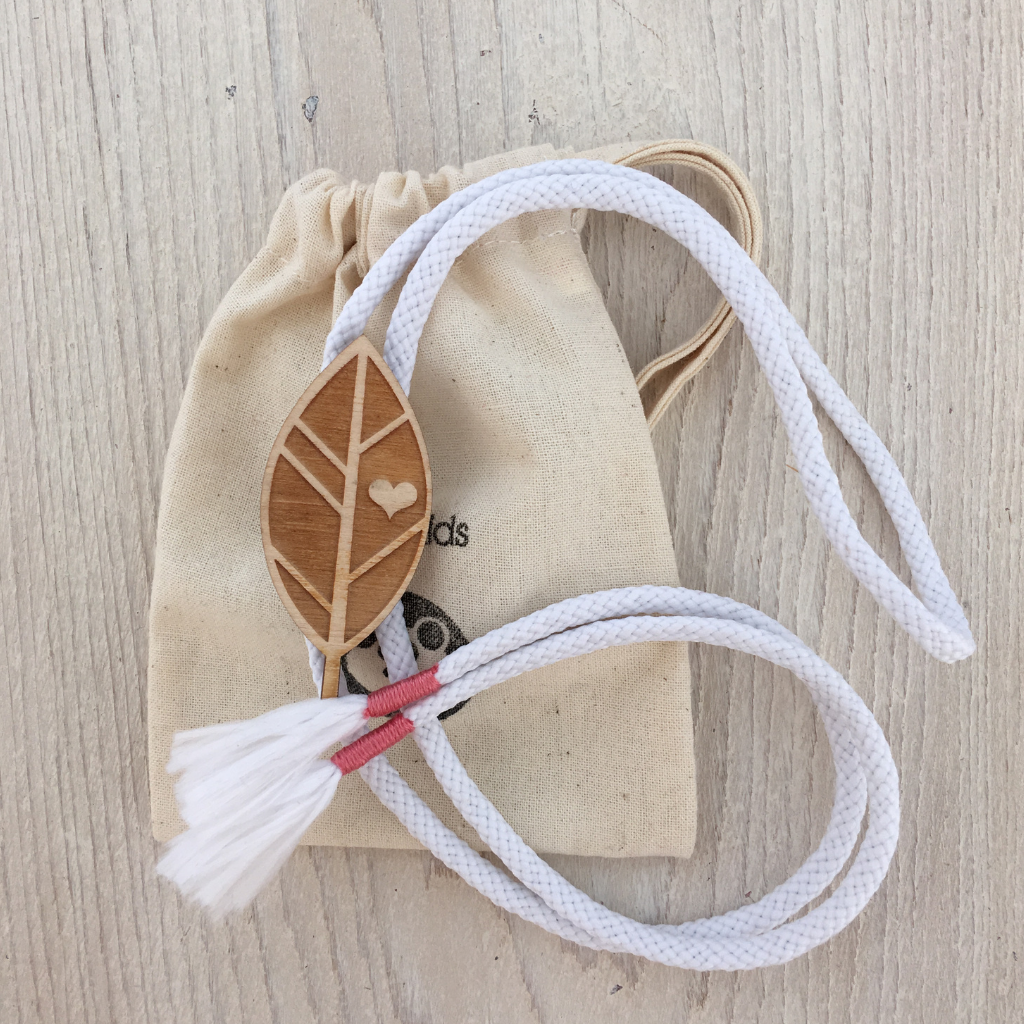 Wooden Leaf Slider Necklace
