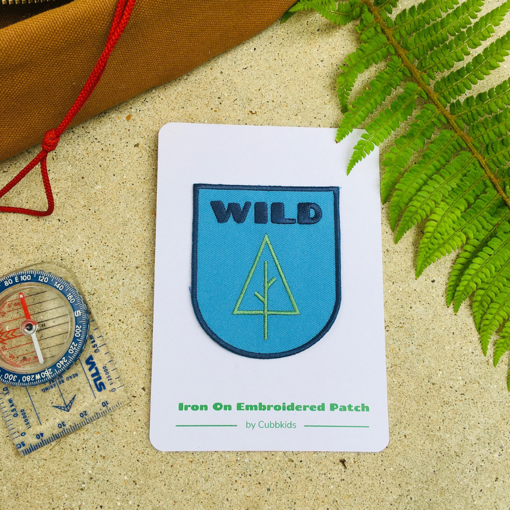 Wild embroidered Patch