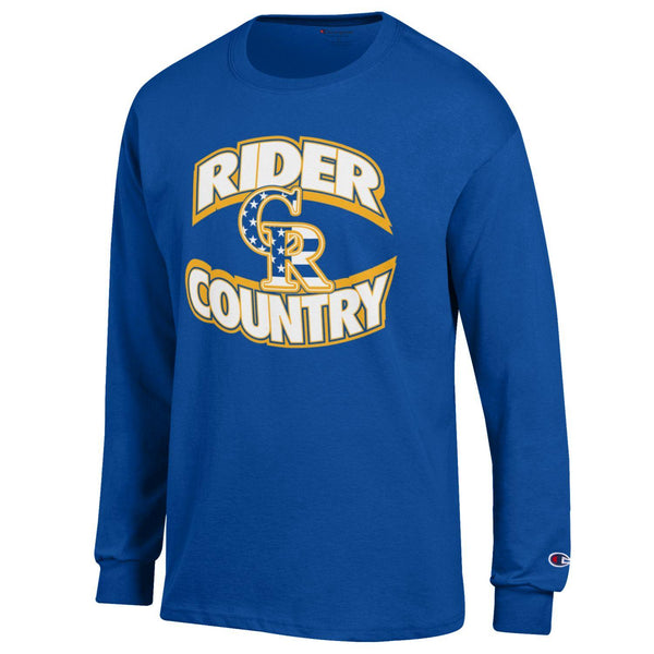 Blue Champion Rider Country Stars Long Sleeve T-Shirt