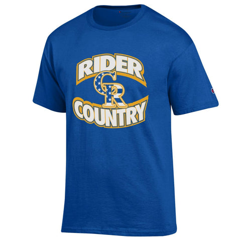 Blue Champion Rider Country Stars Short Sleeve T-Shirt