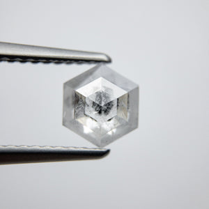 0.93ct 6.89x5.90x2.76mm Hexagon Rosecut 18032-07 - Yuliya Chorna Jewellery