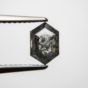 0.87ct 8.12x5.49x2.39mm Hexagon Rosecut 18061-14 - Yuliya Chorna Jewellery