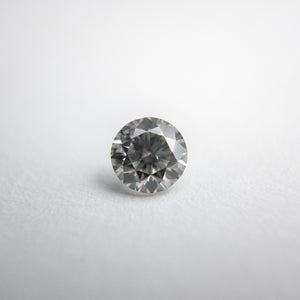0.46ct 4.80x4.77x3.20mm Fancy Grey Round Brilliant 18273-08 - Yuliya Chorna Jewellery