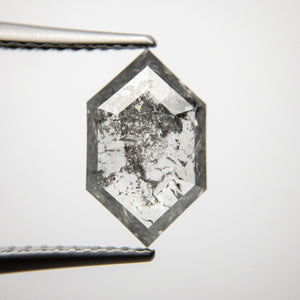 1.86ct 12.12x7.45x2.43mm Hexagon Rosecut 18313-08 - Yuliya Chorna Jewellery