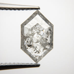 1.74ct 12.18x7.46x2.29mm Hexagon Rosecut 18313-11 - Yuliya Chorna Jewellery