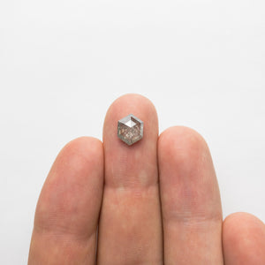 1.87ct 9.13x7.28x3.50mm Hexagon Rosecut 18366-12 - Yuliya Chorna Jewellery