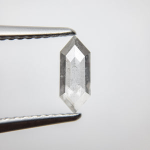 0.61ct 8.52x3.41x2.15mm Hexagon Rosecut 18386-05 - Yuliya Chorna Jewellery