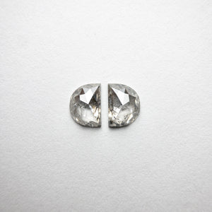 2pc 1.24cttw 6.36x4.63x2.49mm Half Moon Rosecut Matching Pair 18402-03 - Yuliya Chorna Jewellery