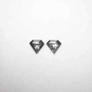 0.95ct 5.94x6.57x1.84mm Shield Rosecut Matching Pair 18454-05 - Yuliya Chorna Jewellery
