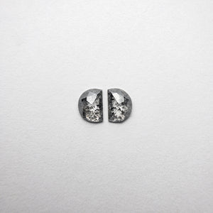 0.65ct 5.08x3.67x1.70mm Half Moon Rosecut Matching Pair 18454-06 - Yuliya Chorna Jewellery