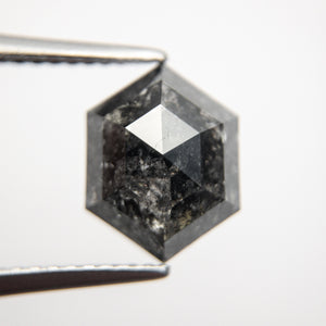 3.01ct 10.64x8.18x4.20mm Hexagon Rosecut 18484-05 - Yuliya Chorna Jewellery