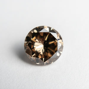 2.66ct 8.30x8.22x5.52mm SI2 Champagne Round Brilliant 18799-01 - Yuliya Chorna Jewellery